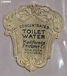 California Perfume Company White Lilac - Detail of label