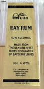California Perfume Company Bay Rum in bottle from the 1930s - Detail of label