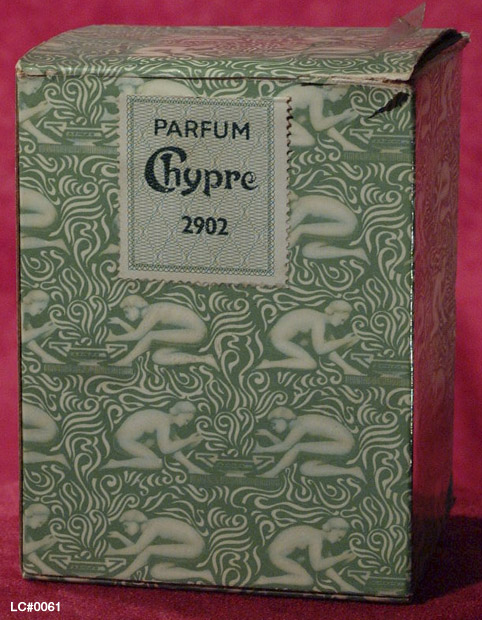 Detail of Outer packaging for Coty's Chypre perfume