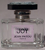 Photo of bottle of 'Eau de Joy' perfume
