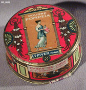 Pompeia powder by L.T. Piver showing Russian markings