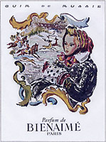 1940's advertising for Bienaime's 'Cuir de Russie'