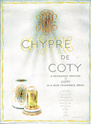 Detail of Display Box for Coty's Chypre perfume